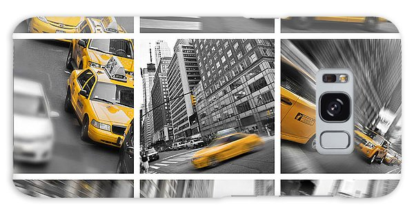 New York City Taxi Galaxy Case - Yellow Taxis Collage by Delphimages Photo Creations