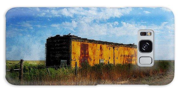 Yellow Train Car Galaxy Case