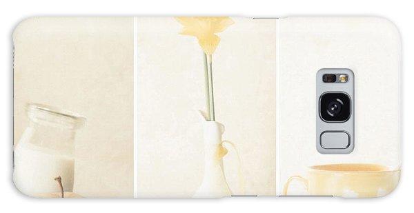 Soft Galaxy Case - Yellow (triptych) by Delphine Devos