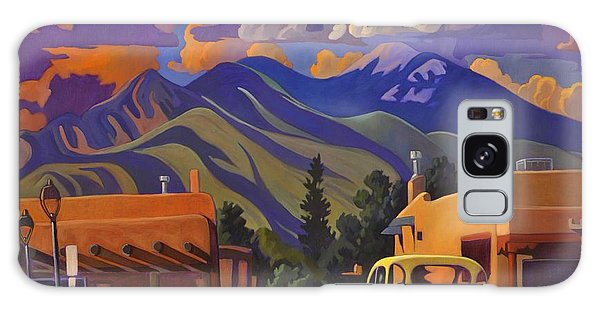A Yellow Truck In Taos Galaxy Case