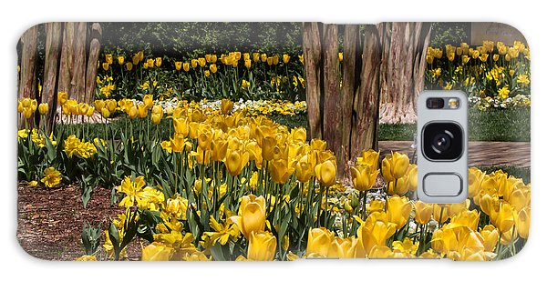 Yellow Tulip Pathway Galaxy Case