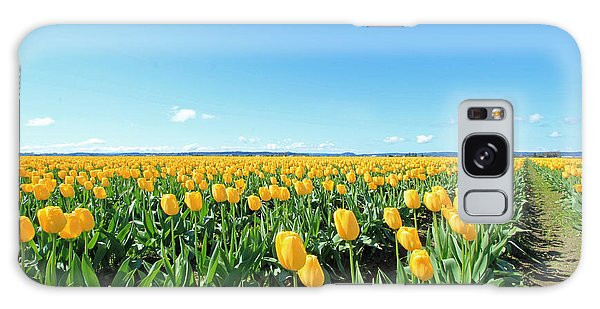 Yellow Tulips Galaxy Case by E Faithe Lester