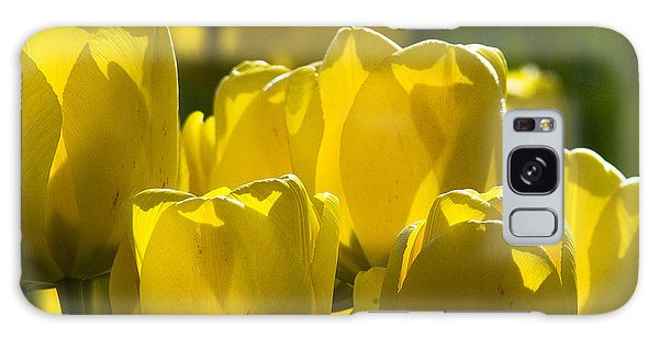 Yellow Tulips  Galaxy Case by Yulia Kazansky