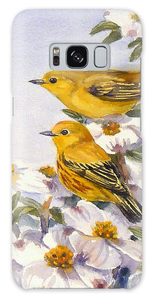 Yellow Warblers Galaxy Case