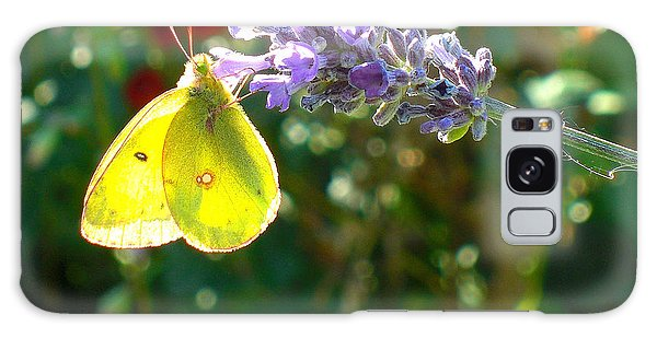 Yellow Wings On Lavendar Galaxy Case by Heidi Manly