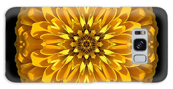 Yellow Zinnia Elegans Flower Mandala Galaxy Case