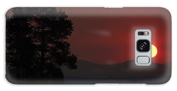 Yellowstone Lake Sunrise On Smoky Day Galaxy Case