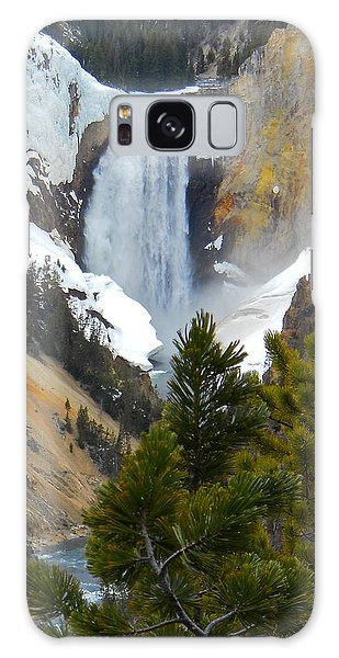 Yellowstone Lower Falls In Spring Galaxy Case by Michele Myers