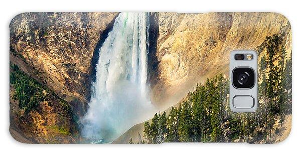 Haybale Galaxy Case - Yellowstone Lower Waterfalls by Robert Bales