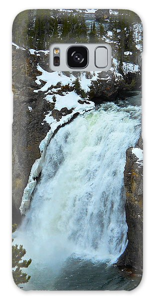 Yellowstone Upper Falls In Spring Galaxy Case by Michele Myers