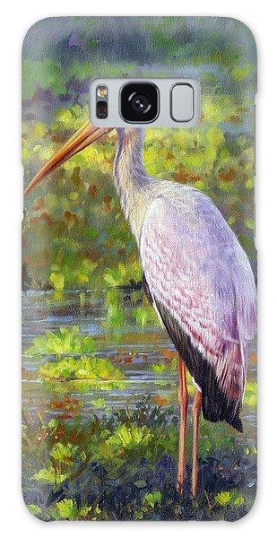 Stork Galaxy S8 Case - Yelow-billed Stork by David Stribbling