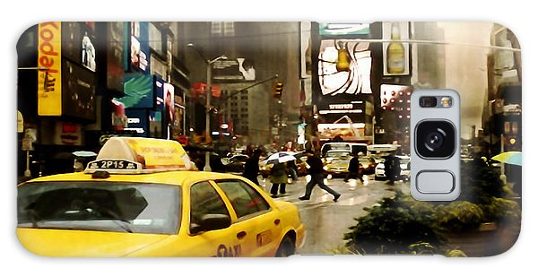 Yelow Cab At Time Square New York Galaxy Case