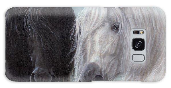Yin-yang Horses  Galaxy Case