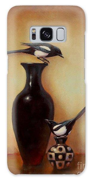 Yin Yang - Magpies  Galaxy Case