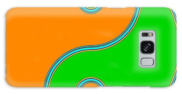 Yin Yang Orange Green Pop Art Galaxy Case