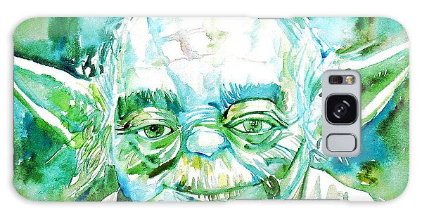 Yoda Watercolor Portrait Galaxy Case