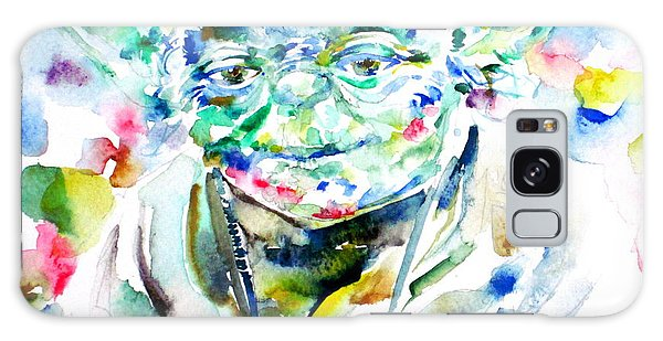 Yoda Watercolor Portrait.1 Galaxy Case