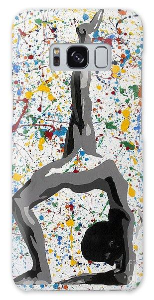 Yoga Down Pose Galaxy Case by Denise Deiloh