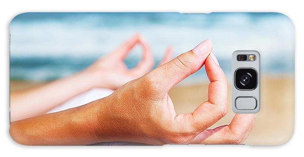 Yoga Meditation On The Beach Galaxy Case