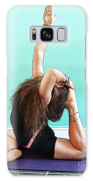 Yoga Study 3 Galaxy Case by Sally Simon