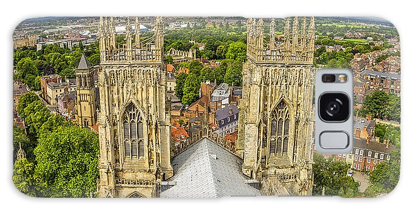 York From York Minster Tower Galaxy Case