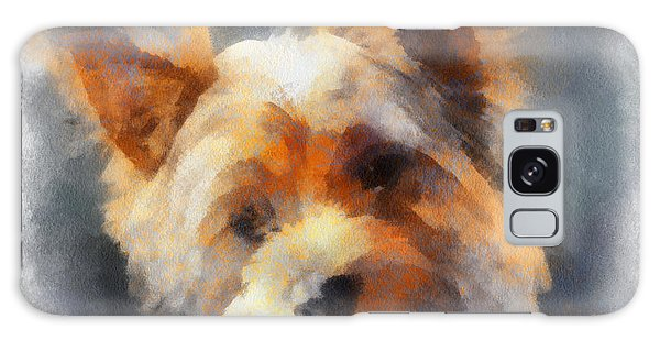 Yorkie Love Galaxy Case by Barbara R MacPhail