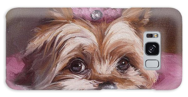 Yorkshire Terrier Princess In Pink Galaxy Case