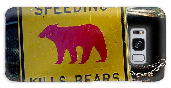 Yosemite Bear Sign Speeding Kills Bears Galaxy Case by Jeff Lowe