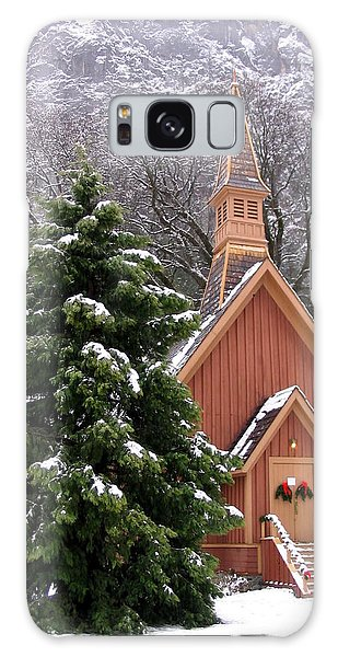 Yosemite Chapel In Winter Galaxy Case by Kevin Desrosiers