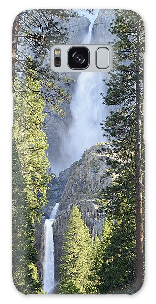 Yosemite Falls In Morning Splendor Galaxy Case