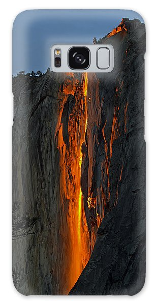 Yosemite Horsetail Falls Galaxy Case by Duncan Selby