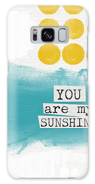 Summer Galaxy Case - You Are My Sunshine- Abstract Mod Art by Linda Woods