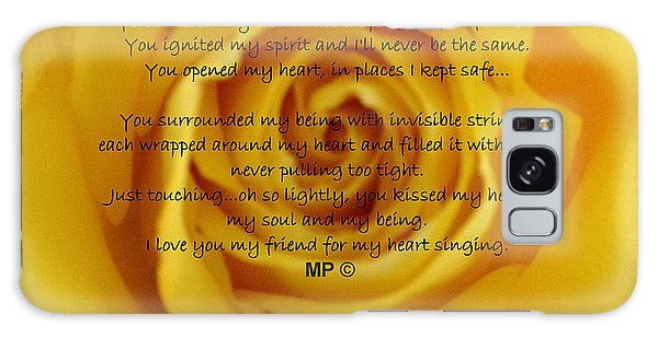 You Poem On Yellow Rose Galaxy Case