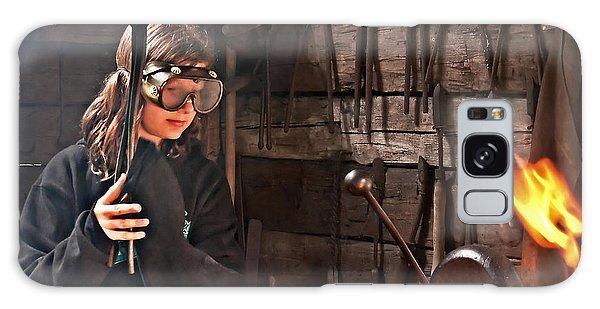 Young Blacksmith Girl Art Prints Galaxy Case