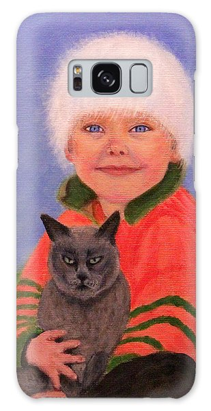 Young Boy And Geriatric Kitty Galaxy Case