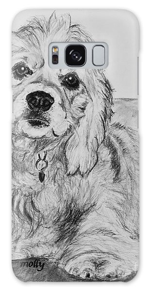 Young Cocker Spaniel Galaxy Case by Kate Sumners