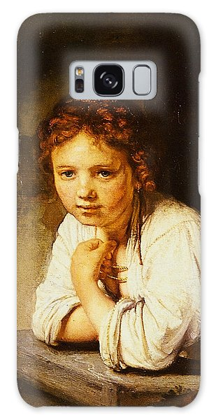 Young Girl At A Window Galaxy Case by Rembrandt