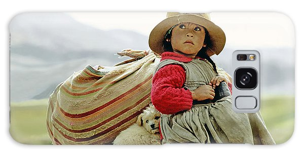 Young Girl In Peru Galaxy Case by  Victor Englebert