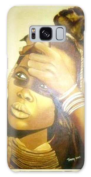 Young Himba Girl - Original Artwork Galaxy Case