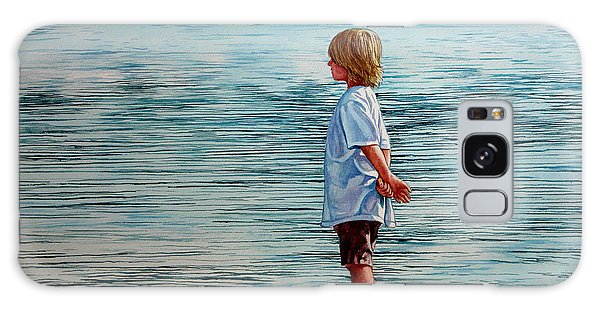 Young Lad By The Shore Galaxy Case