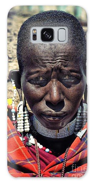 Portrait Of Young Maasai Woman At Ngorongoro Conservation Tanzania Galaxy Case