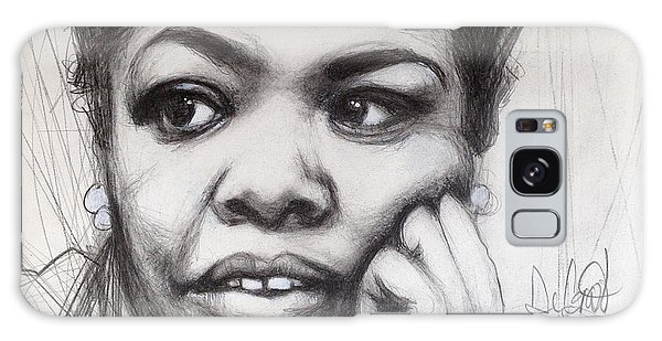 Young Maya Angelou Galaxy Case by Gregory DeGroat