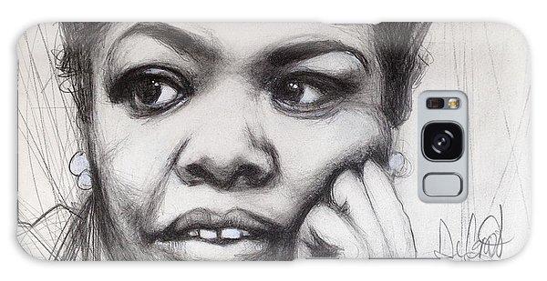 Young Maya Angelou Galaxy Case