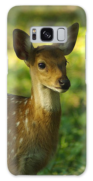 Young Spotted Deer Galaxy Case by Jacqi Elmslie