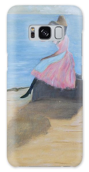 Young Women On The Beach Galaxy Case
