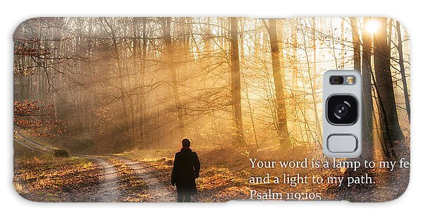 Your Word Is A Light To My Path Bible Verse Quote Galaxy Case
