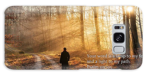 Your Word Is A Light To My Path Bible Verse Quote Galaxy Case by Matthias Hauser