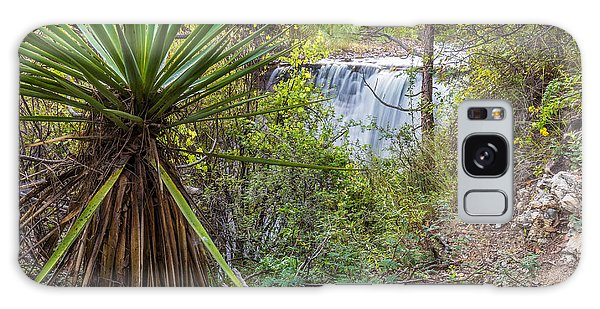 Galaxy Case featuring the photograph Yucca And Waterfall by Beverly Parks