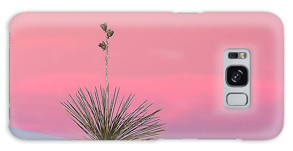Yucca On Pink And White Galaxy Case