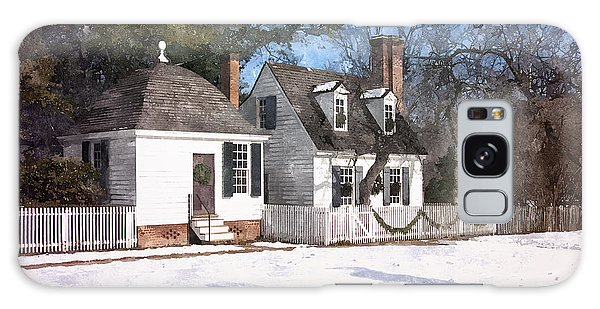 Yule Cottage Galaxy Case by Shari Nees